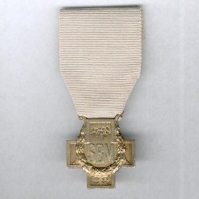 Cross of the French Society for the Aid of Wounded Military (Croix de la Société Française de Secours aux Blessés Militaires), 1939-1945