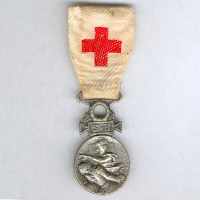 Medal of the French Society for the Aid of Wounded Military, bronze, attributed (Médaille de la Société Française de Secours aux Blessés Militaires en bronze, attribuée), 1864-1866