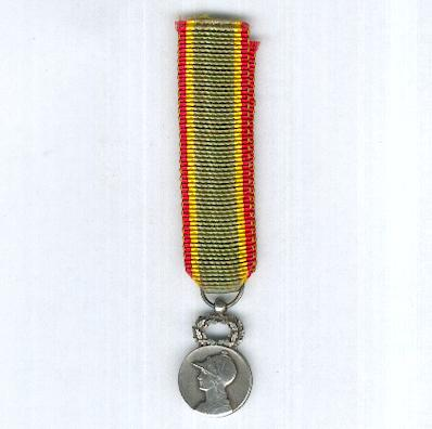Medal of the Society for the Encouragement of Devotion to Service, silver (Médaille de la Société d'Encouragement au Devouement, argent), miniature