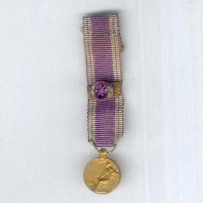 Medal of Honour of the Benevolent Services (Médaille d'Honneur des Services Benevoles), miniature