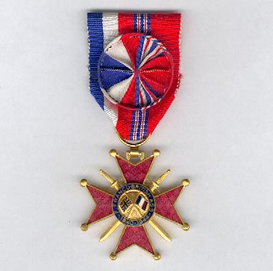 Franco-British Cross of Honour, officer (Croix d'Honneur Franco-Britannique, officier) 1940-1944 version