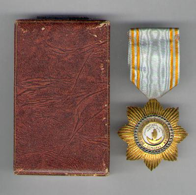 COMOROS.  Royal Order of the Star of Anjouan, knight (Ordre Royal de l'Etoile d'Anjouan, chevalier) in case of issue