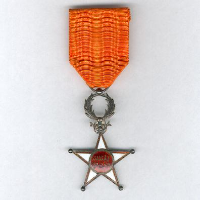 MOROCCO.  Order of Ouissam Alaouite, knight, 2nd type (Ordre du Ouissam Alaouite, chevalier, 2ème type)