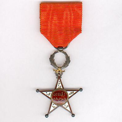 MOROCCO.  Order of Ouissam Alaouite, knight, rare 1st type (Ordre du Ouissam Alaouite, chevalier, 1er type)