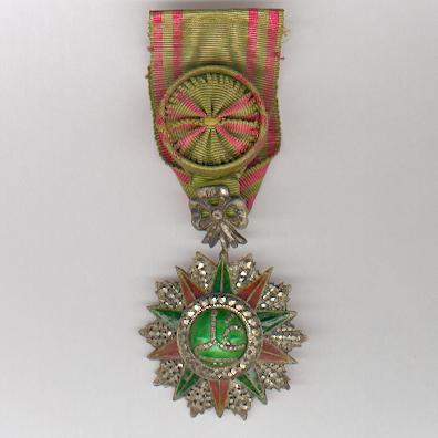 TUNIS.  Order of Nichan Iftikhar, officer, Ali Muddat ibn al-Husayn Bey issue (1882-1902), Tunisian hallmarked