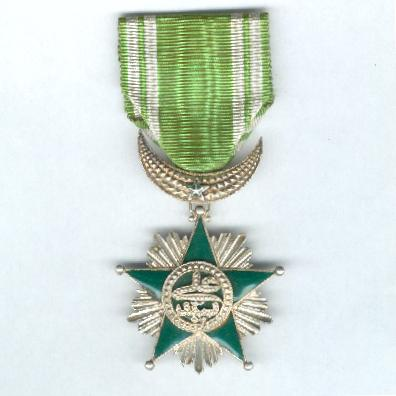 COMOROS.  Order of the Star of Grand Comoro, knight (Ordre de l'Étoile de la Grande Comore, chevalier), 2nd type, since 1910