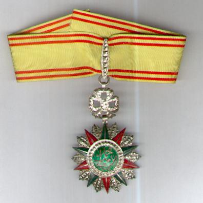TUNIS. Order of Nichan Iftikhar, commander, Muhammad VIII al-Amin issue, 1942-1957, Tunisian hallmarked