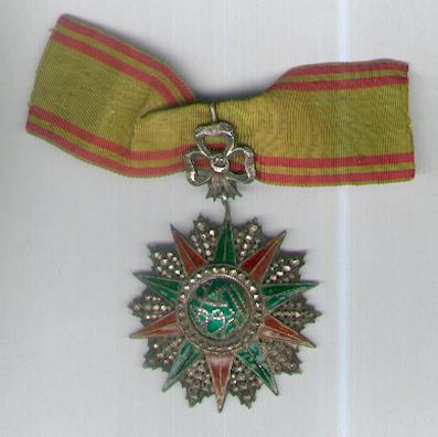 TUNIS. Order of Nichan Iftikhar, commander, Muhammad III as-Sadiq issue, 1859-1882, Tunisian hallmarked