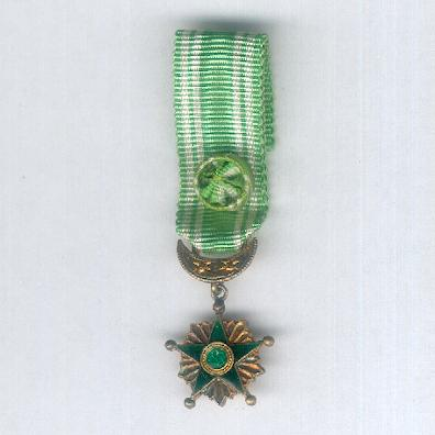 Order of the Star of Grand Comoro, officer (Ordre de l'Étoile de la Grande Comore, officier), 2nd type, since 1910, miniature