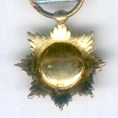 Royal Order of the Star of Anjouan, knight (Ordre Royal de l'Etoile d'Anjouan, chevalier), miniature