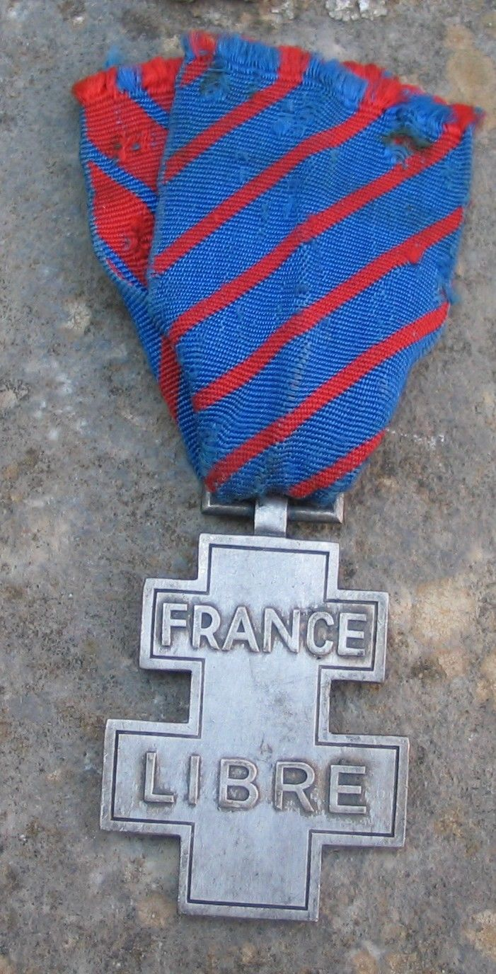 Medal for Voluntary Service in Free France (Médaille des Services Volontaires dans la France Libre)