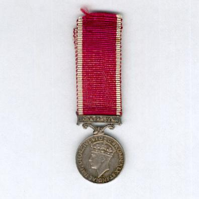 Army Long Service and Good Conduct Medal with 'Australia' bar, George VI 1937-1948 issue, miniature