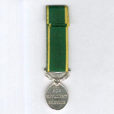 Efficiency Medal, George VI, 1st type, 1937-1948 issue, with 'Territorial' bar, miniature