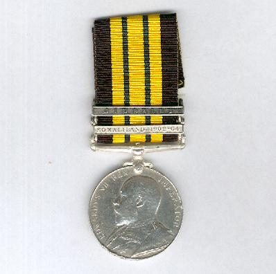 Africa General Service Medal, Edward VII issue with 'Somaliland 1902-04' and 'Jidballi' clasps, attributed, 1st Battalion, King's African Rifles