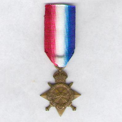 1914-15 Star, attributed to 6597 Private William Marshall, Royal Welsh Fusiliers