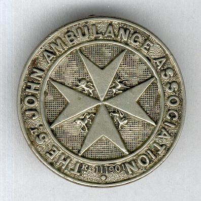 Most Venerable Order of the Hospital of Saint John of Jerusalem, Priory of England and the Islands, St John Ambulance Association badge