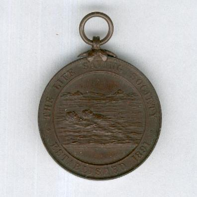 Life Saving Society Medallion, bronze, rare 1891-1904 issue, attributed, by Vaughton of Birmingham