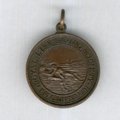 Royal Life Saving Society Medallion, bronze, attributed in 1929
