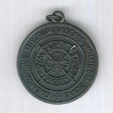 Royal Life Saving Society Medallion, bronze, attributed in 1994
