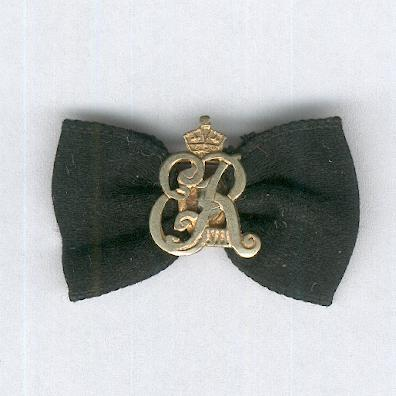 Most Venerable Order of the Hospital of St. John of Jerusalem (Order of St. John), Insignia of His Majesty King Edward VII, on ladies bow