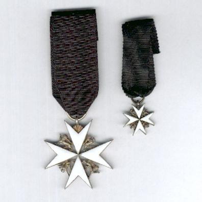Most Venerable Order of the Hospital of St. John of Jerusalem (Order of St. John), Officer,  with associated miniature