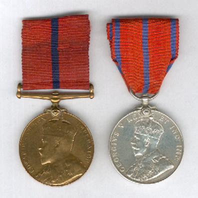 Coronation Metropolitan Police Pair comprising: Coronation (Police) Medal, 1902, bronze and Coronation (Police) Medal, 1911, silver, both attributed to Police Constable S. Knights, P Division