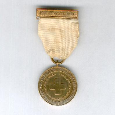 British Red Cross Society Medal for War Service, 1914-1918 with attribution to F.T. Taylor