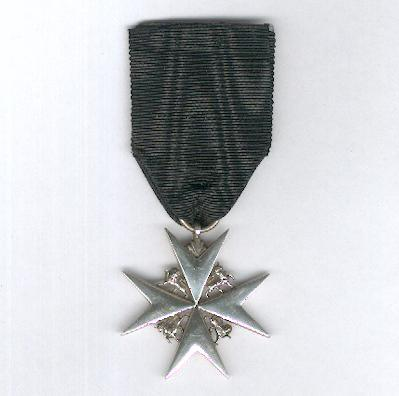 Most Venerable Order of the Hospital of St. John of Jerusalem (Order of St. John), Officer, silver