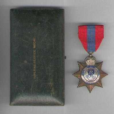 Imperial Service Medal, Edward VII issue, 1902-1910, attributed, in fitted embossed case of issue by Elkington & Co. Ltd., London