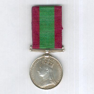 Afghanistan Medal 1878-1880, attributed to  2235 Private Charles Wallace, 2nd Battalion, 7th Regiment of Foot (Royal Fusiliers)