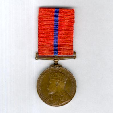 Coronation (Police) Medal, 1902, Metropolitan Police version, bronze, attributed to Police Constable T. Langford, B Division
