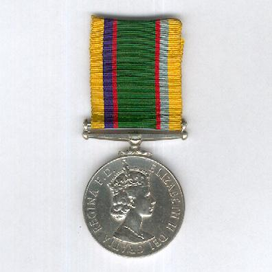 Cadet Forces Medal, Elizabeth II issue, 2nd type 1954-1980, attributed to Flight Lieutenant A.J. Jackson, Royal Air Force Volunteer Reserve