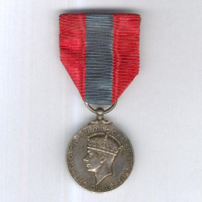 Imperial Service Medal, George VI, 1949-1952 issue, attributed