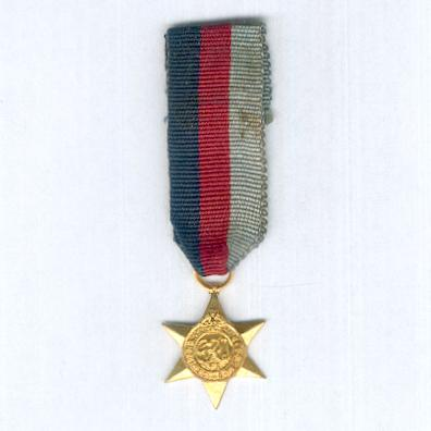 1939-1945 Star, miniature, by Ludlow of London