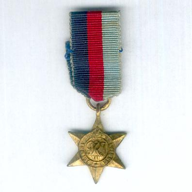1939-1945 Star, miniature