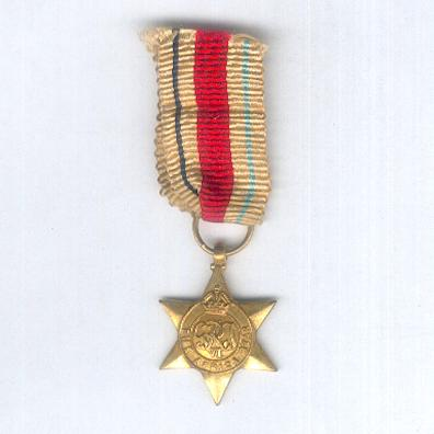 Africa Star, 1940-1943, miniature