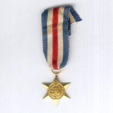 France and Germany Star, 1944-1945, miniature by Ludlow of London