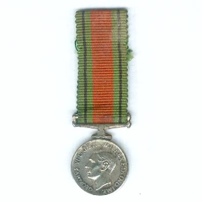 Defence Medal, 1939-1945, miniature
