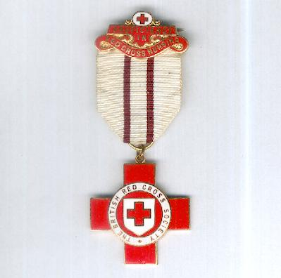Red Cross Award for Proficiency in Red Cross Work with 'Proficiency in Red Cross Nursing' bar 1914-1968 issue, attributed