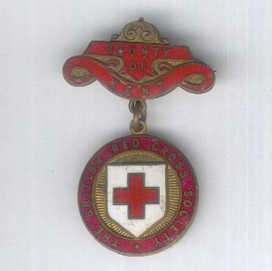 British Red Cross Society, County of Kent Badge, 1911-1956 issue
