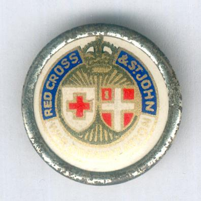 Badge of the Joint War Organization of the British Red Cross Society and the Order of St. John of Jerusalem in England, 1939-1945, for personnel serving overseas