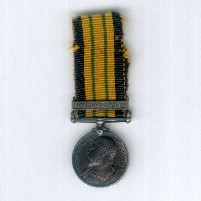 Africa General Service Medal, Edward VII issue, with 'Somaliland 1902-04' clasp, miniature