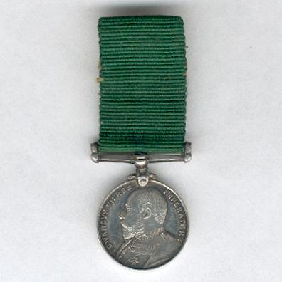 Volunteer Force Long Service Medal (Colonies), Edward VII issue, 1901-1908, miniature