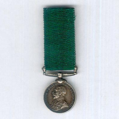 Volunteer Force Long Service Medal (Colonies), King George V issue, 1911-1930, miniature
