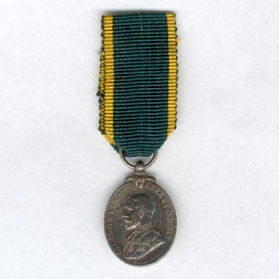 Territorial Efficiency Medal, George V, 1921-1930 issue, miniature