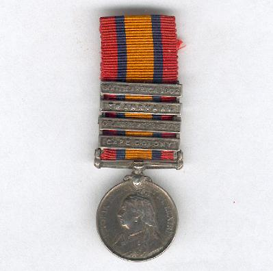Queen�s South Africa Medal 1899-1902 with �Cape Colony�, �Orange Free State�, �Transvaal� and �South Africa 1902� clasps, miniature