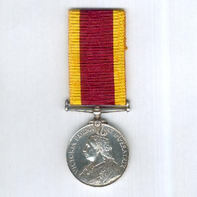 China War Medal 1900, attributed, Indian Medical Service, officer