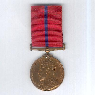 Coronation (Police) Medal, 1902, rare London County Council Metropolitan Fire Brigade version, attributed