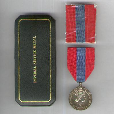 Imperial Service Medal, Elizabeth II, 1955 onwards issue, in original fitted embossed case of issue by Spink & Son Ltd. of London, attributed