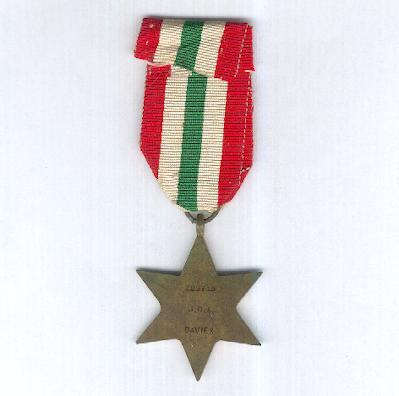 Italy Star, 1943-1945, attributed